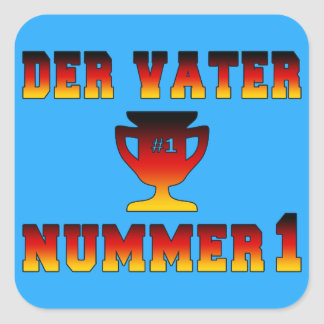 Der Vater Nummer 1 #1 Dad in German Father's Day Square Sticker
