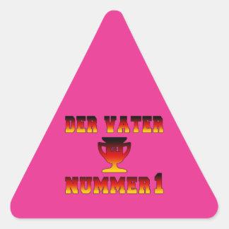 Der Vater Nummer 1 #1 Dad in German Father's Day Triangle Sticker