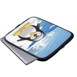 Deranged Penguin Computer Sleeve