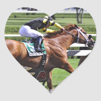"Derby and Dubai winning Jockey ""Joel Rosario"" Heart Sticker"