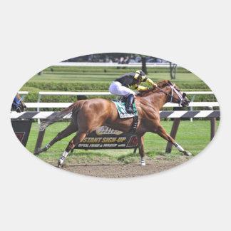 "Derby and Dubai winning Jockey ""Joel Rosario"" Oval Sticker"