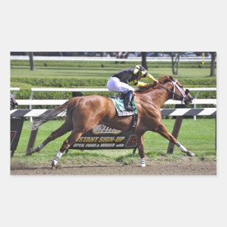 "Derby and Dubai winning Jockey ""Joel Rosario"" Rectangular Sticker"