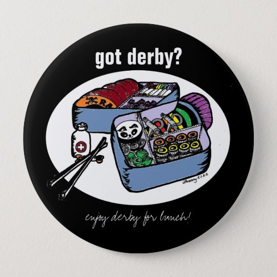 derby bento pinback button