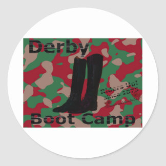 Derby boot camp! round stickers