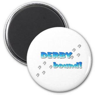 DERBY bound! Blue Silver 2 Inch Round Magnet