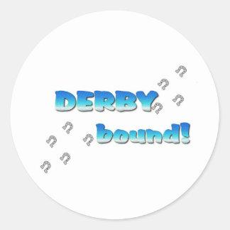 DERBY bound! Blue Silver Classic Round Sticker