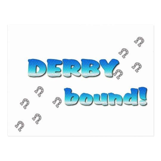 DERBY bound! Blue Silver Postcard