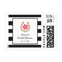 Derby Bridal Shower Postage Stamp Horseshoe Rose