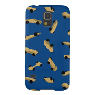 Derby Cars on Blue Galaxy S5 Cover
