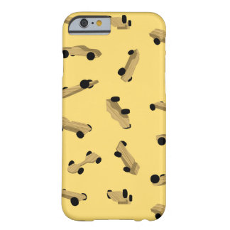 Derby Cars on Gold Barely There iPhone 6 Case