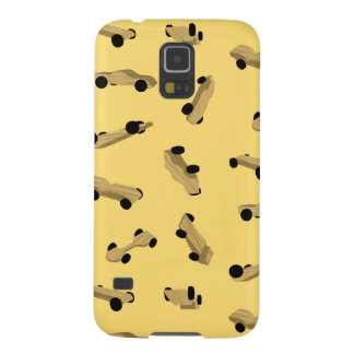 Derby Cars on Gold Cases For Galaxy S5