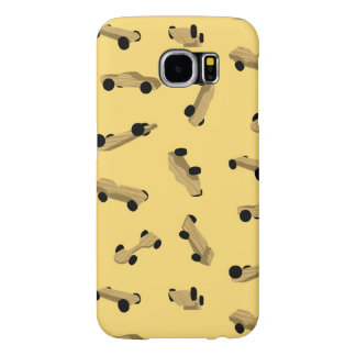 Derby Cars on Gold Samsung Galaxy S6 Cases