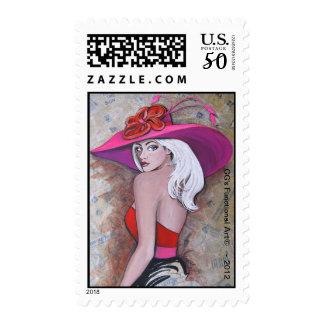 Derby Chick  ~ 2012 design by Artist GG Burns Postage