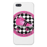 Derby Chicks Roll With It - Hot Pink Black White Cover For iPhone 5/5S
