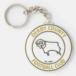 derby county football club basic round button keychain