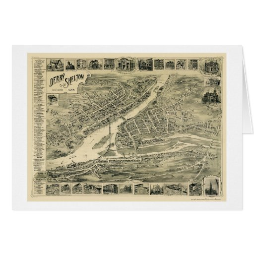 Derby, CT Panoramic Map - 1899 Card
