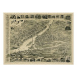Derby, CT Panoramic Map - 1899 Poster