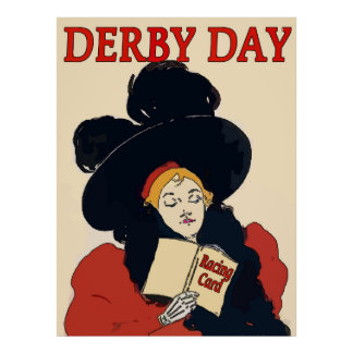 Derby Day Vintage Woman Poster
