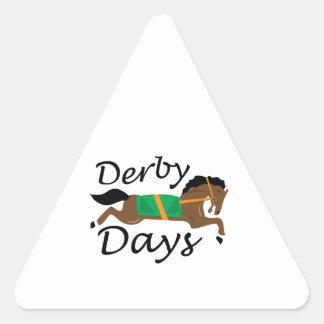 Derby Days Triangle Sticker