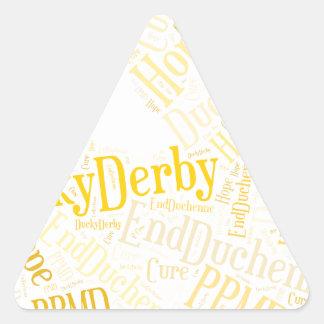 Derby Ducky Pegatina Triangular