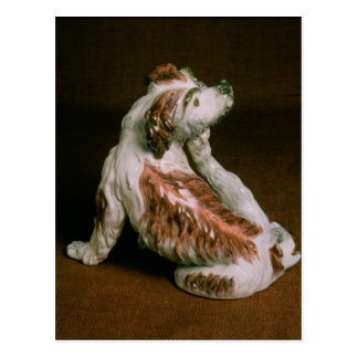 Derby figure of a King Charles spaniel Post Cards
