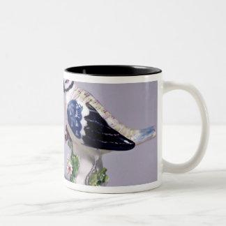 Derby figures of bluetits, c.1760 Two-Tone coffee mug