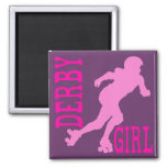Derby Girl 2 Inch Square Magnet