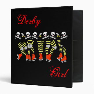 Derby Girl Black Binder