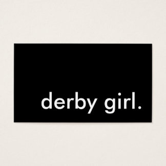 derby girl. business card