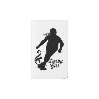 Derby Girl Silhouette, Roller Derby Skating Pocket Moleskine Notebook