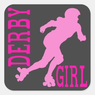 Derby Girl Square Sticker