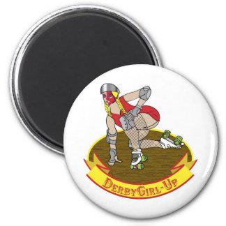 derby girl up 2 inch round magnet