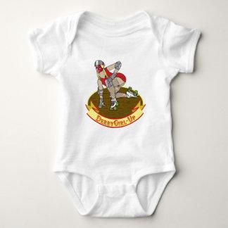 derby girl up baby bodysuit
