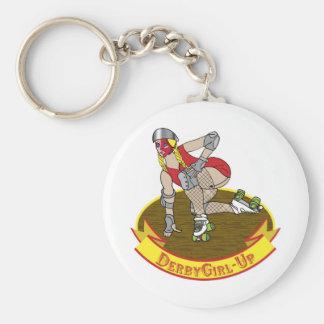 derby girl up keychain