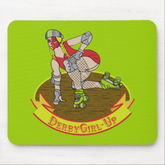 Derby girl up mouse pad