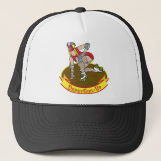 derby girl up trucker hat