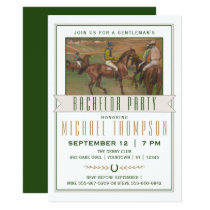 Derby Horse Race Bachelor Party   Edgar Degas Invitation