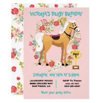 Derby Horse Racing Birthday Party Invitation