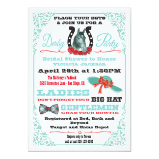 Derby Horse Racing Bridal Shower invitations