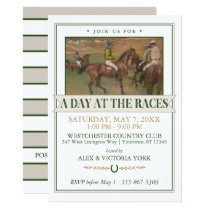 Derby Horse Racing Party | Edgar Degas Invitation
