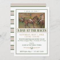 Derby Horse Racing Party | Edgar Degas Invitation