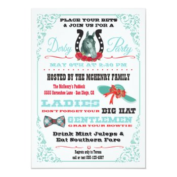 Derby Horse Racing Party Invitation by McBooboo at Zazzle