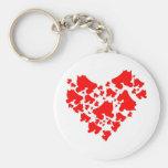 Derby Love Basic Round Button Keychain