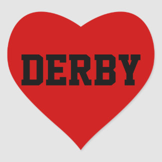 Derby Love Heart Sticker