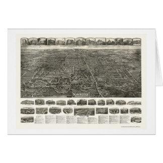 Derby Manchester mapa panorámico del CT - 1914 Felicitacion