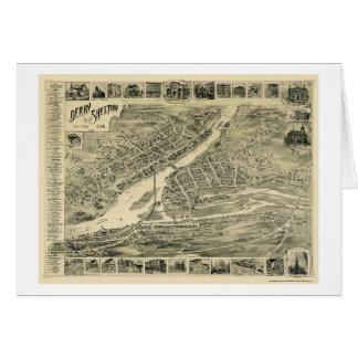 Derby, mapa panorámico del CT - 1899 Felicitacion