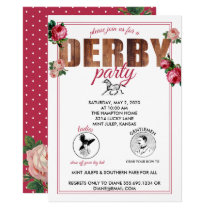 Derby Party Horse Racing Roses Invitation