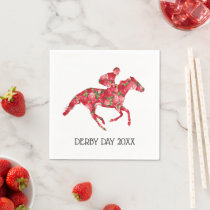 Derby Party Red Roses Racehorse Napkins