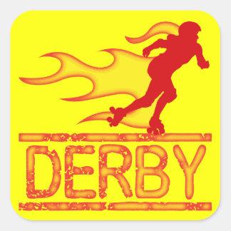 Derby Pegatina Cuadrada