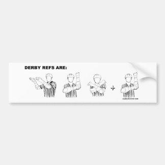 Derby refs are SEX-E Bumper Sticker